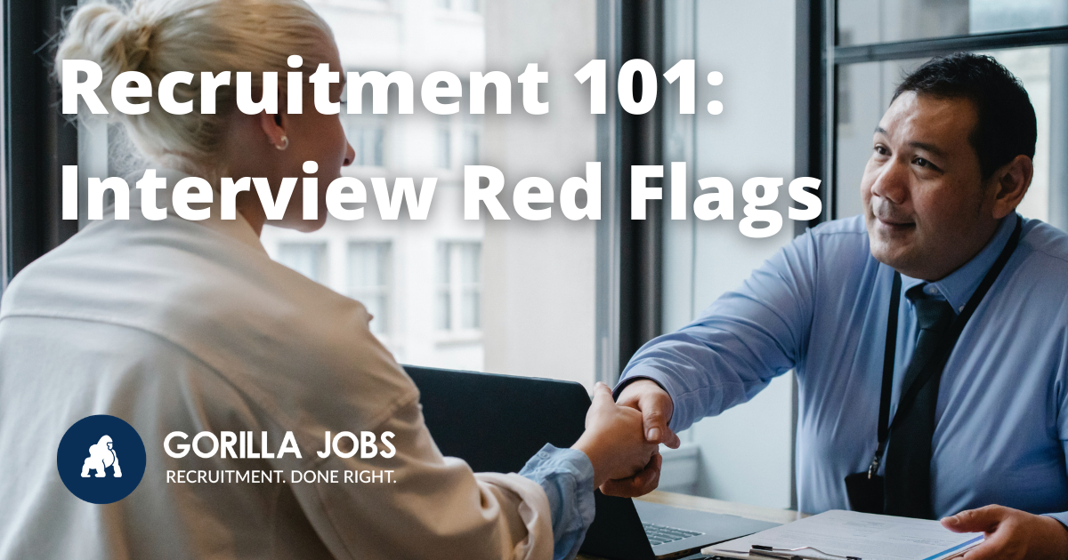 Gorilla Jobs Blog Interview Red Flags Employer Shaking Hands of Potential New Employee After Interview