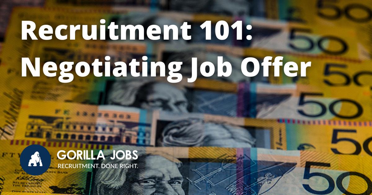 Gorilla Jobs Blog Negotiating Job Offer Bunch of 50 Australian Dollar Notes