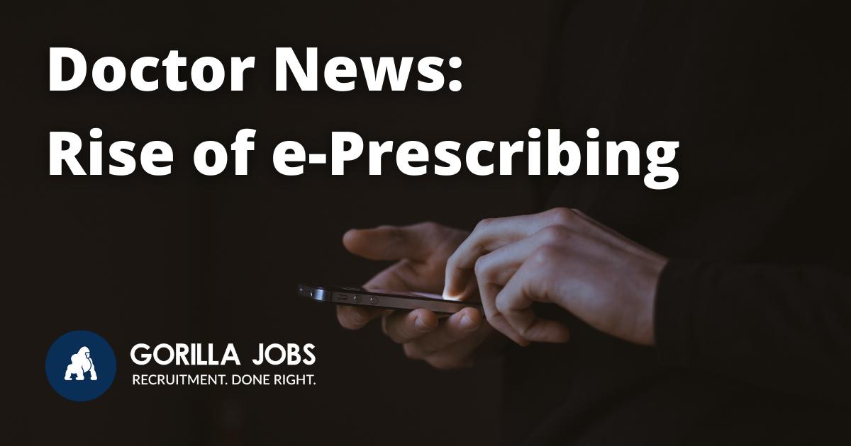 Gorilla Jobs Blog Rise of E-Prescribing in Australia Person Holding Phone Dark Silhouette