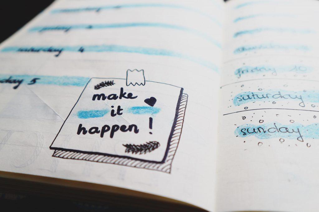 gorilla jobs blog making a five year plan make it happen written inside a schedule planner