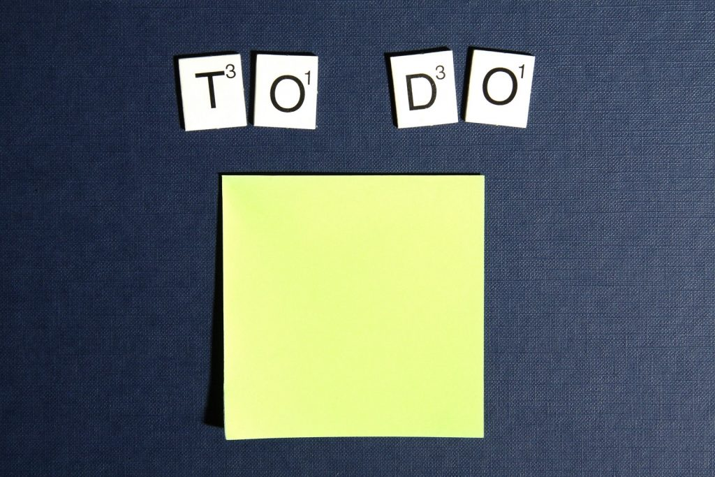 gorilla jobs blog making a five year plan to do scrabble letters next to an empty post it note